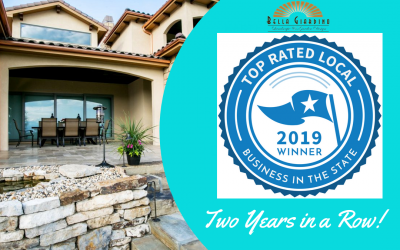 Bella Giardino Landscape and Garden Design wins the Top Rated Local Landscaper Award for the Second Year in a Row!
