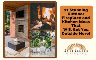11 Stunning Outdoor Fireplace and Kitchen Ideas That Will Get You Outside More!